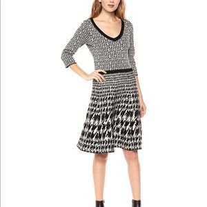Taylor houndstooth sweater dress, S